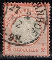 Allemagne - 1872 - Y&T N° 3 A, Orange, Oblitéré - Oblitérés