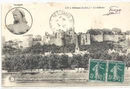 --CHINON--LE CHATEAU--TRES JOLI AFFR DU 4-8-1911-- - Chinon