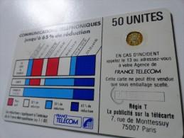 RARE : FRAPPES EN 2 TEMPS ET PLAGE HORAIRE SUR CORDONS  BLANC 50U SC4OB NR 7 PUIS 11889 - Frankrijk