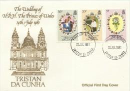 Tristan Da Cunha 1981 Royal Wedding FDC - Tristan Da Cunha