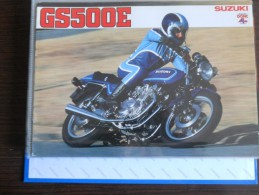 Suzuki GS 500 E Moto Depliant Originale Rare Factory Original Brochure Prospekt - Motor Bikes