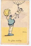 Illustrateur Edmond Sornein , Une Future Aviatrice , Enfant Et Poupée - Aicard