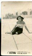 "MUJER WOMAN DONNA FASHION VINTAGE STYLE  ""CASA FOTO ROYAL"" MAR DEL PLATA, ARGENTINA AÑO ANNÉE 1954 GECKO - Mode"