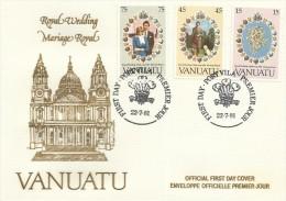 Vanuatu 1981 Royal Wedding FDC - Vanuatu (1980-...)