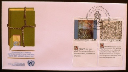 NATIONS UNIES, PEINTURE, Yvert 199/200 . Fdc , Enveloppe Premier Jour. 16/11/1989 - Office De Genève