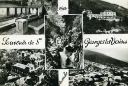 SAINT GEORGES LES BAINS - ARDECHE   (07)  - CPSM MULTIVUES. - France