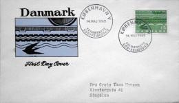 Denmark 1963 Cz.Slania FDC  Minr,413x   Opening The Crow Bar To Germany ( Lot  Ks ) - FDC