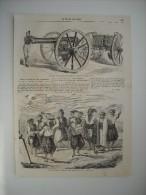 GRAVURE 1858. DANSES DES PAQUES GRECQUES, GRAND-CHAMP-DES-MORTS, A CONSTANTINOPLE. PIECE D'ARTILLERIE DE  CAMPAGNE...... - Estampes & Gravures