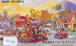 Télécarte JAPON DISNEY (4336) Phonecard Japan * TELEFONKARTE * TOONTOON * CINEMA * 110-182980 - Disney