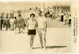 "FASHION PAREJA COUPLE LOVERS FIANCEE ""CASA FOTO REAL"" MAR DEL PLATA AÑO 1958 NON CIRCULEE GECKO. - Mode"