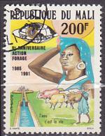 Timbre Oblitéré N° 567(Yvert) Mali 1991 - Action Forage - Mali (1959-...)