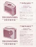NOTICES D'EMPLOI DES RECEPTEURS TRANSISTORS MONACO ET DINARD LES TRANSISTORS ZEPHIR - Machines