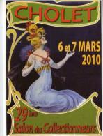 Cholet.. Affiche.. D'après Nover.. 29e Salon Des Collectionneurs.. Mars 2010.. Pin-up - Cholet