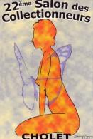 Cholet.. Affiche.. Davy Vrain.. 22e Salon Des Collectionneurs.. Mars 2003.. Pin-up.. Nus.. Papillon - Cholet