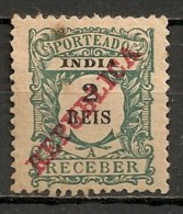 Timbres - Portugal - Inde Portugaise - Taxe - 1914 - 2 Reis - - Inde Portugaise