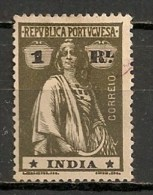 Timbres - Portugal - Inde Portugaise - 1914 - 1 Real - - Inde Portugaise