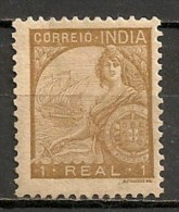 Timbres - Portugal - Inde Portugaise - 1934 - 1 Real - - Inde Portugaise