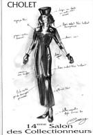 Cholet.. Affiche.. Graphisme Claire Launay.. 14e Salon Des Collectionneurs.. 1995.. Mode - Cholet