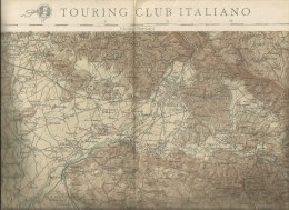 Gorizia - Trieste, Carta Geografica T.C.I. F.19 - Istituto Geografico Militare, Cm. 65 X 45, Scala 1/100.000. - Carte Geographique