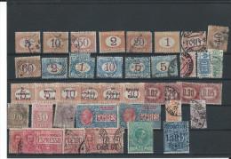 ITALIE Timbres Taxe Signatasse  Timbres Pour étude - 1878-00 Humbert I