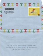 Ghana 1961 Perforated Fire Crowned Bishop Bird Unused Mint Aerogramme Watermark With Code Letter P - Zangvogels