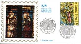 FRANCE. N°3498 De 2002 Sur Enveloppe 1er Jour (FDC). Vitrail De Chagall. - Verres & Vitraux
