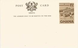 Ghana 1959 Unperforated Timber Lumber Log One And Half Pence Unused Mint Post Card - Ghana (1957-...)