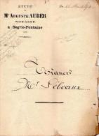 Testament De 1854 De SEBAUX Francois, Propriétaire Cultivateurde SEGRIE FONTAINE (61), 2 Pages - Manuscrits