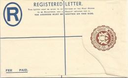 Ghana 1958 6d Brown Eagle Unused Mint Registered Envelope - Ghana (1957-...)
