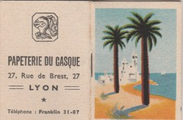 PETIT CALENDRIER 1950- PUBLICITE PAPETERIE DU CASQUE -LYON - Calendars