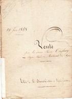 Acte De Vente De 1848, AUFRAY Pierre Et MAVENT à MAHEUT à SEGRIE FONTAINE (61) 4 Pages - Manuscrits