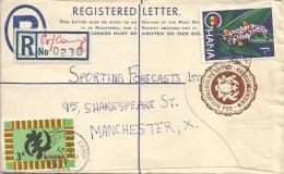 Ghana 1960 Giffard Camp Ginger Flower Registered Stationary 8p Cover - Ghana (1957-...)