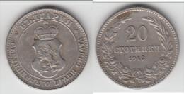 **** BULGARIE - BULGARIA - 20 STOTINKI 1913 **** EN ACHAT IMMEDIAT !!! - Bulgaria