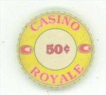 FICHE DA COLLEZIONE DA 50 C. DEGLI ANNI 1960 DEL CASINO ROYALE - Casino