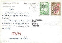 Ghana 1959 Accra Advertisement Ionyl Drugs Special Viewcard To France - Farmacia