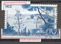 VARIETES FRANCE ANNEE 1955   N° 1038  LE PORT DE NICE  OBLITERE 3 SCANNE - Errors & Oddities