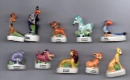 Série Complète 10 Fèves Brillantes LE ROI LION  / Disney - 2004 - Disney
