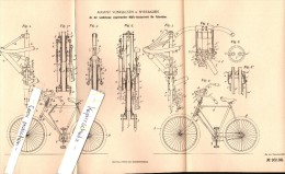 Original Patent - August Vonhausen In Wiesbaden , 1896 , Hilfs-Handantrieb Für Fahrräder , Fahrrad , Bicycle !!! - Transport