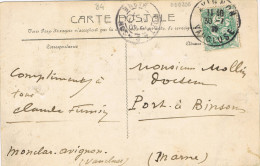 11302. Postal MONCLAR, AVIGNON (vaucluse) 1917 A Port A Binson (marne) - Briefe U. Dokumente