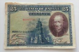 SPAGNA 25 PESOS 1928 VF - [ 1] …-1931 : Eerste Biljeten (Banco De España)