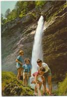 PERICNIK, Slap, Slovenia, Boys And Girls In Shorts ,  Vintage Old Photo Postcard - Slowenien