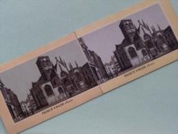 EGLISE St. VINCENT à ROUEN Stereo Card - Identificier / Identify ( Voir / Zie Photo Voor/pour Detail ) !! - Photos Stéréoscopiques