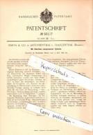 Original Patent - Barta & Co In Antonienthal Und Franzenthal ,1896, Glas - Cylinder , Jihlava , Frantiskov Nad Ploucnici - Glas & Kristall