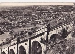 CPSM Lourdes Le Viaduc Du Funiculaire Et La Ville - Funiculares