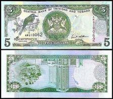 TRINIDAD & TOBAGO 5 DOLLARS 2002 P 42 UNC - Trinidad & Tobago