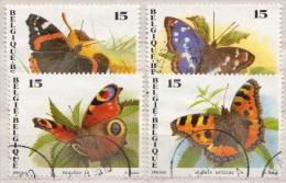 Belgium Used Set - Schmetterlinge