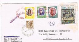 ITALIA - STORIA POSTALE - 1976 RACCOMANDATA  DA SENIGALLIA  (AN)   X L' INTERNO  - RIF. 3353 - 6. 1946-.. Repubblica
