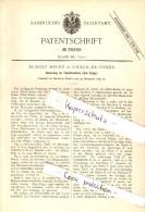 Original Patent - Rudolf Heger à Chaux-de-Fonds , 1885 , Montre De Poche Sans Les Mains !!! - Taschenuhren