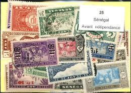 25 Timbres Sénégal Avant Independance
