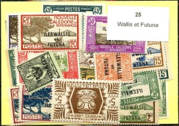 25 Timbres Wallis Et Futuna